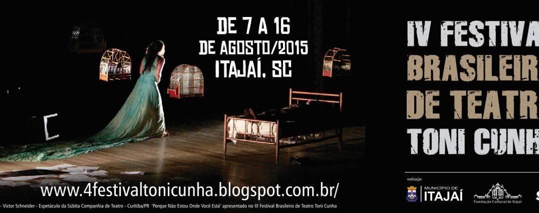 #MERGULHO no IV Festival Brasileiro de Teatro Toni Cunha