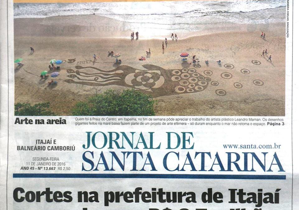 Criaturas Efêmeras – Desenhos gigantes na praia