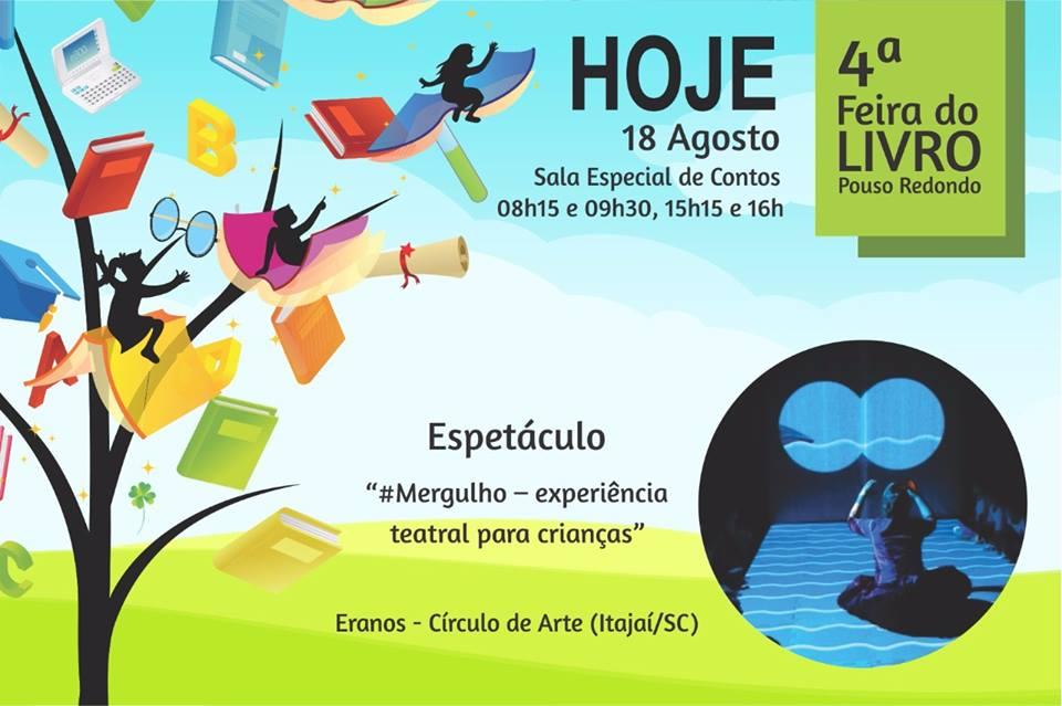 #Mergulho na 4ª Feira do Livro Pouso Redondo